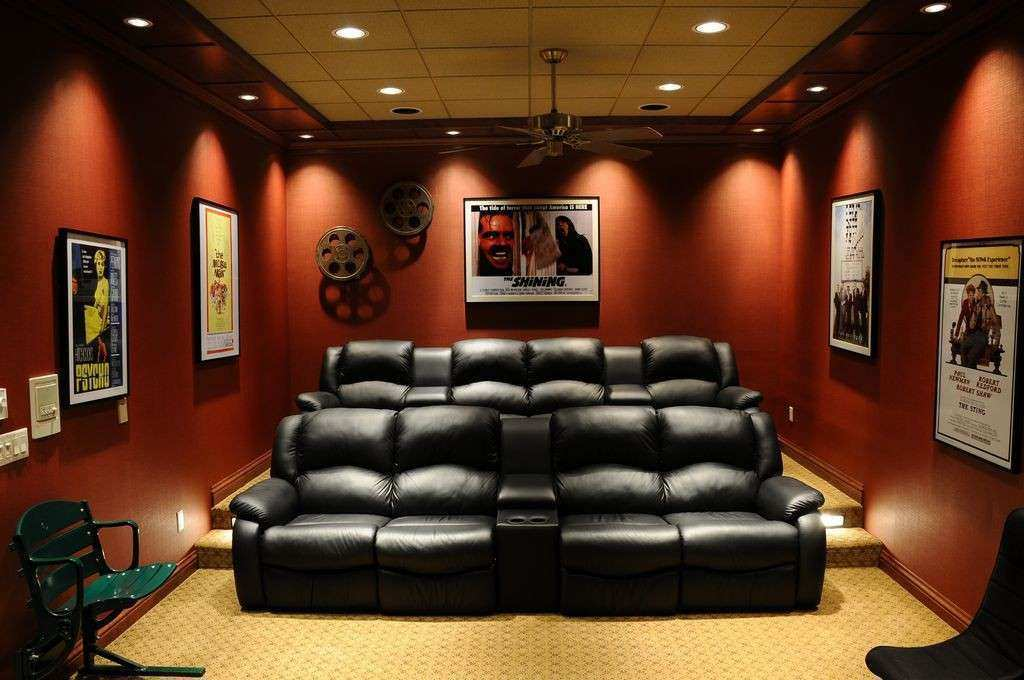 Home Theater Wall Decor Fresh Contemporary Home Theater With Crown Molding  By Jg