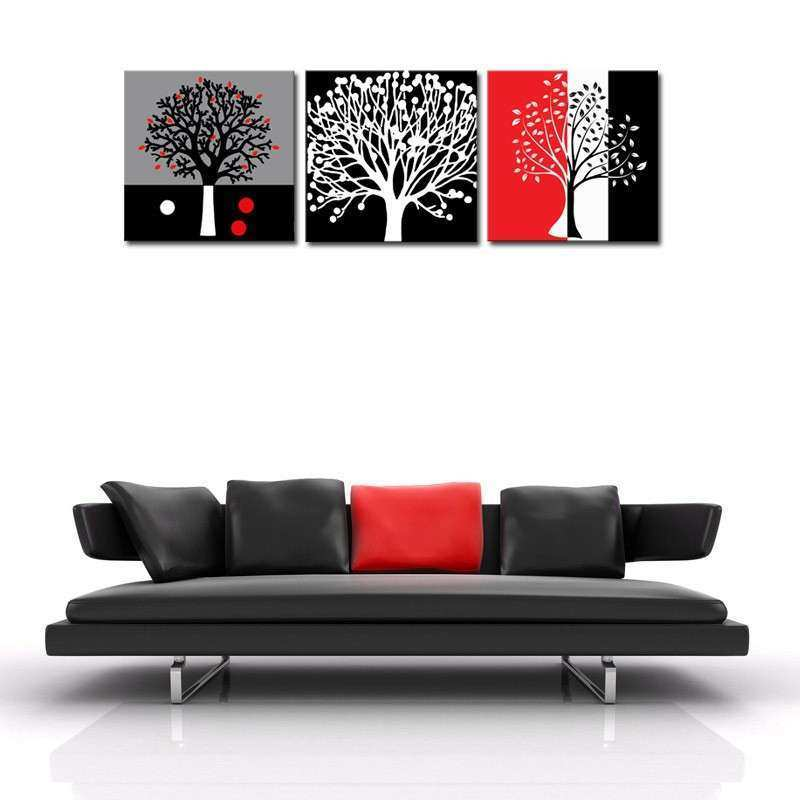 Aliexpress Buy Unframed 3 sets Abstract Tree Modern