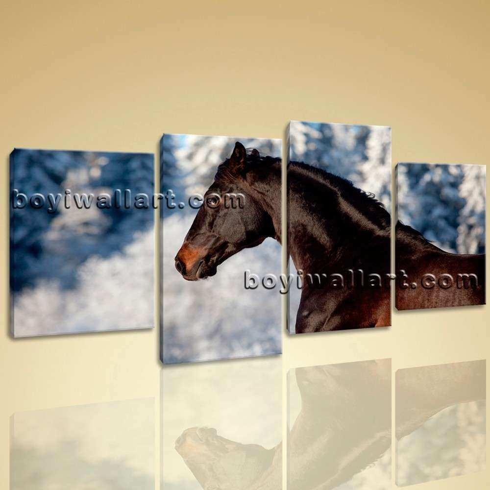 Wall Art HD Print Canvas Horse Picture