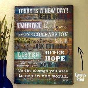 Canvas Wall Art Inspirational Quote Wood Frame Print Decor