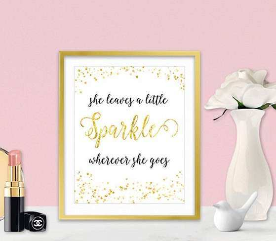 Canvas Wall Art She Leaves A Little Sparkle Inspirational
