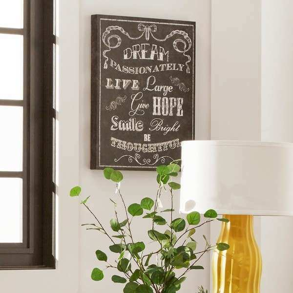 Inspirational Wall Art Canvas Traditional Entry Way Room