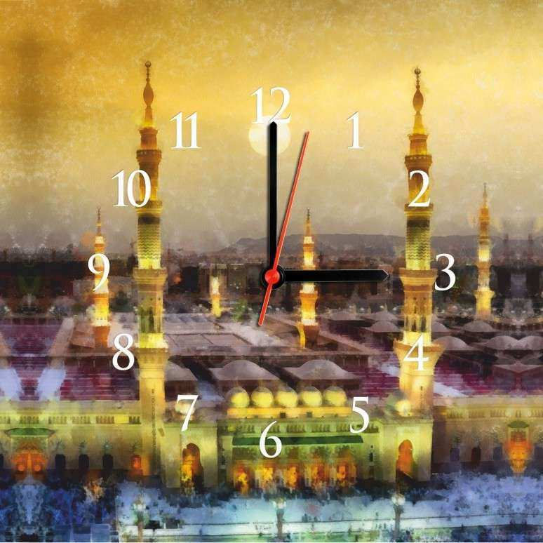 Islamic Wall Art Canvas Best Of islamic Canvas Art Wall Clock Cl 46 ...