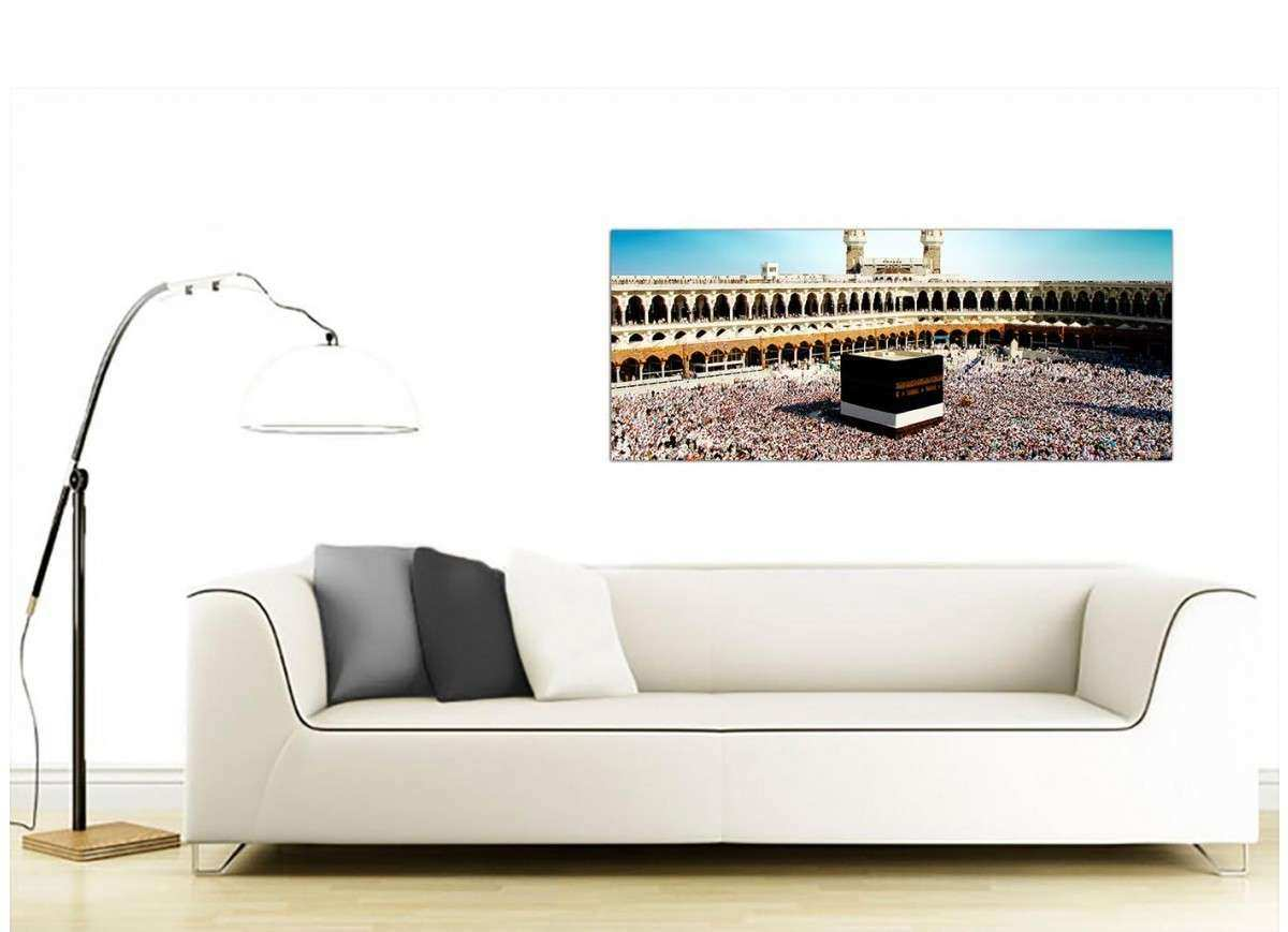 Modern Islamic Canvas Art UK Mecca Hajj Pilgrimage