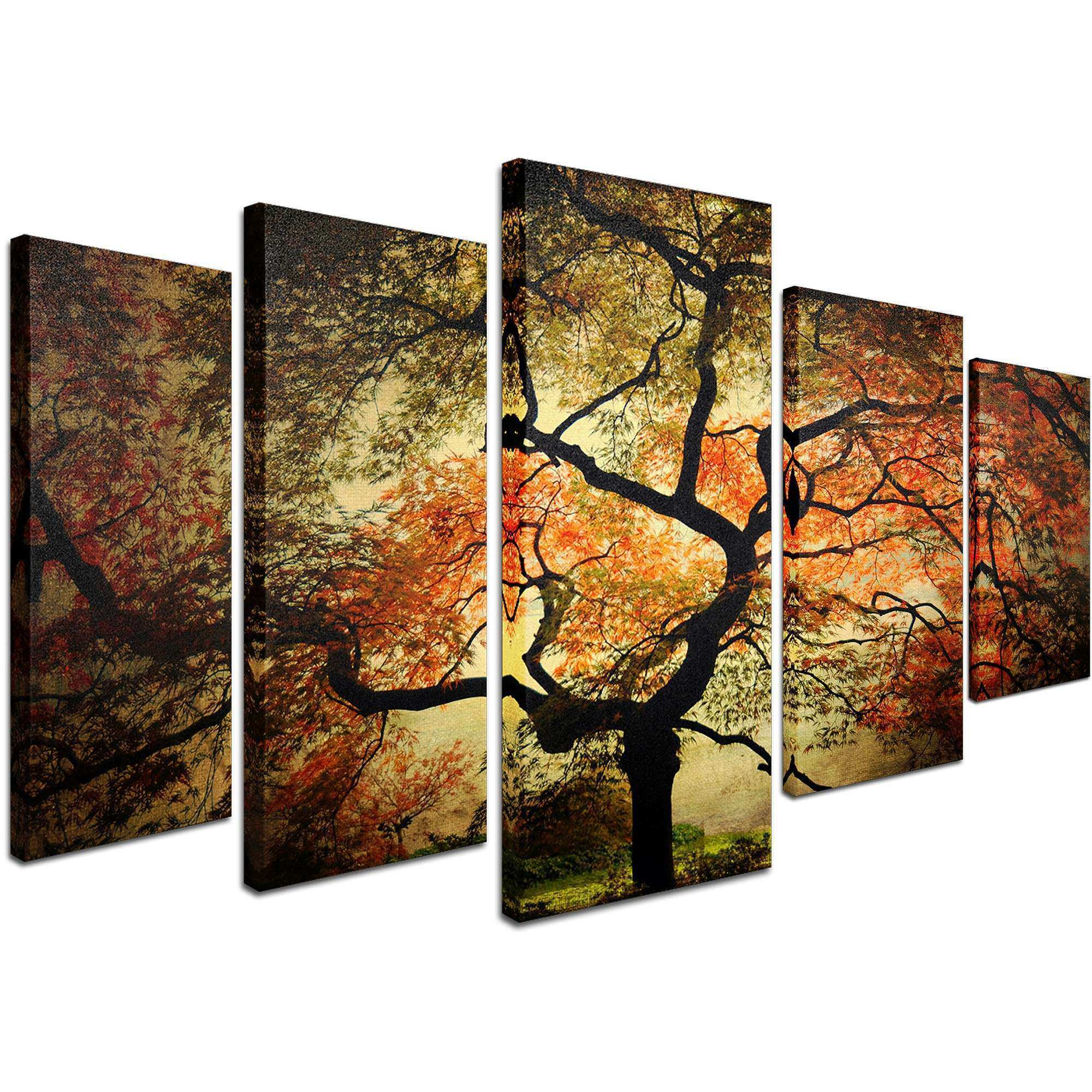 Cool Idea 5 Piece Wall Art Canvas With Trademark Fine