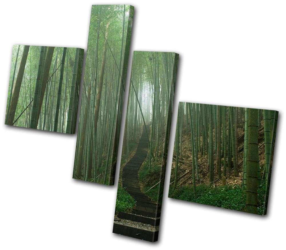 Landscapes Japanese Forest Multi Canvas Wall Art Picture
