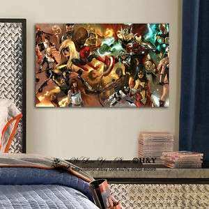 Marvel Stretched Canvas Print Framed Wall Art Kid Room