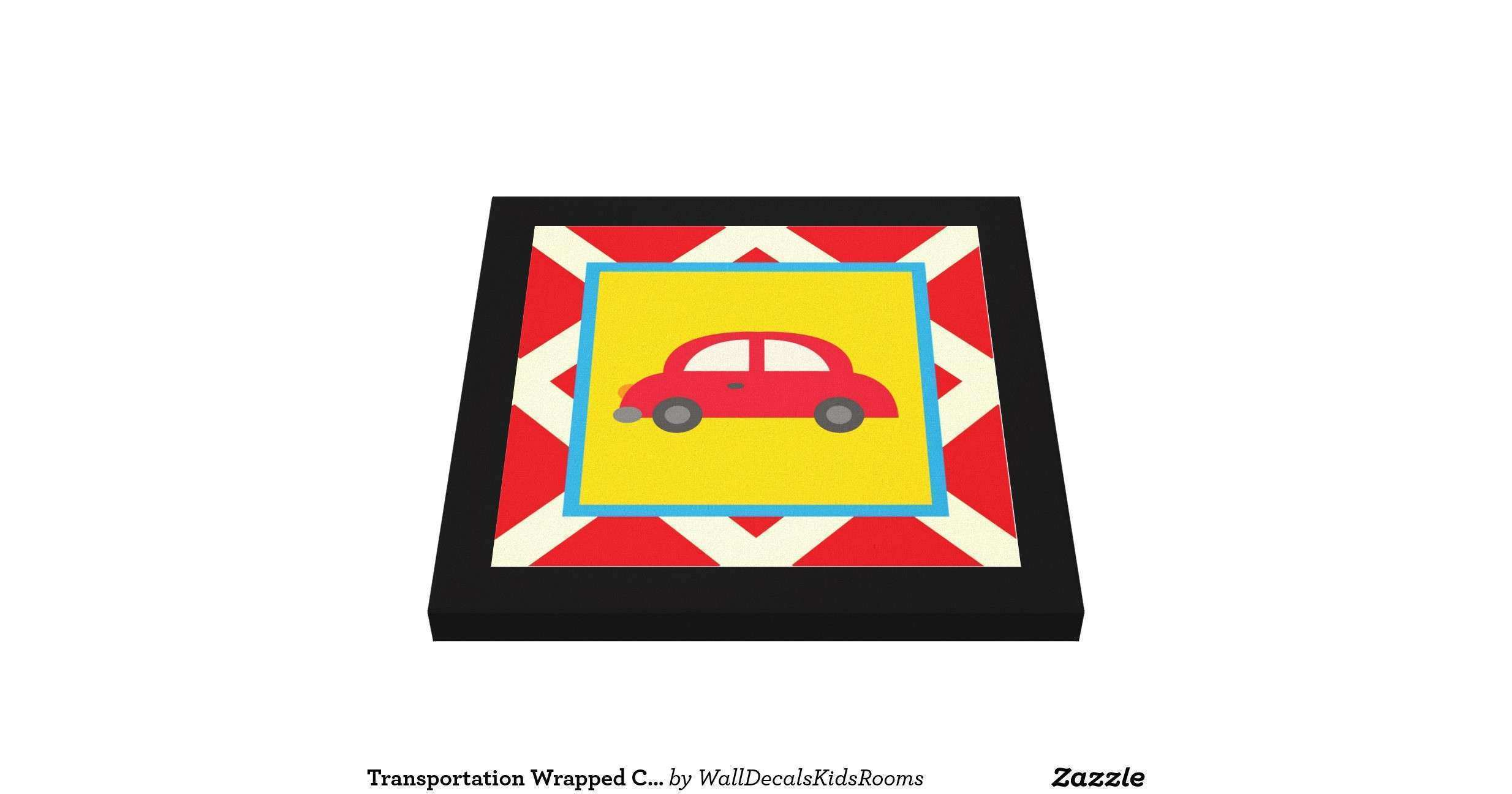 Transportation Wrapped Canvas Wall Decor for Kids Gallery