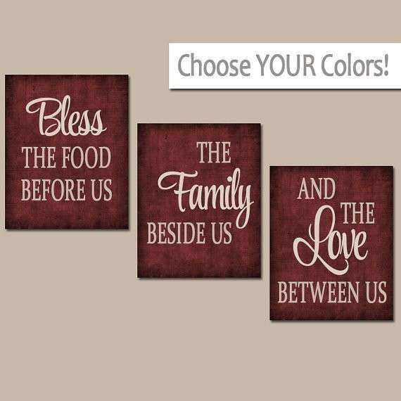 KITCHEN Wall Art Canvas or Prints Kitchen Quote Decor Bless