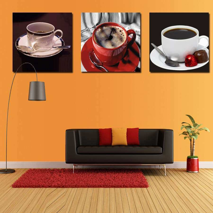 Image Gallery kitchen wall art orange