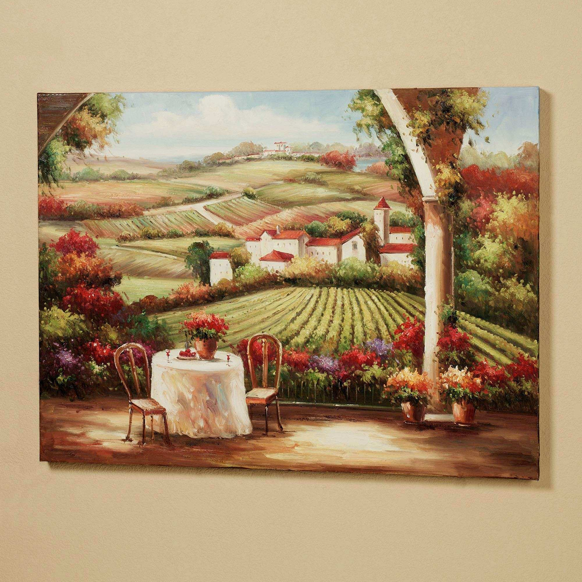 Vineyard in the Valley Canvas Wall Art