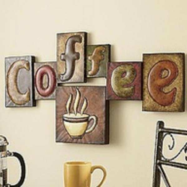 Kitchen Designs Retro Coffee Sign Poster dish towels