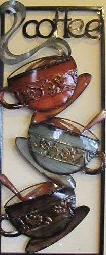 Hot coffee Metal art and Kitchen walls on Pinterest