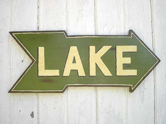 Items similar to Wooden Lake Sign Rustic Lake House Cabin