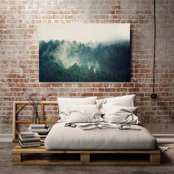 Teal Canvas Art Canvas Print Wall Art Landscape