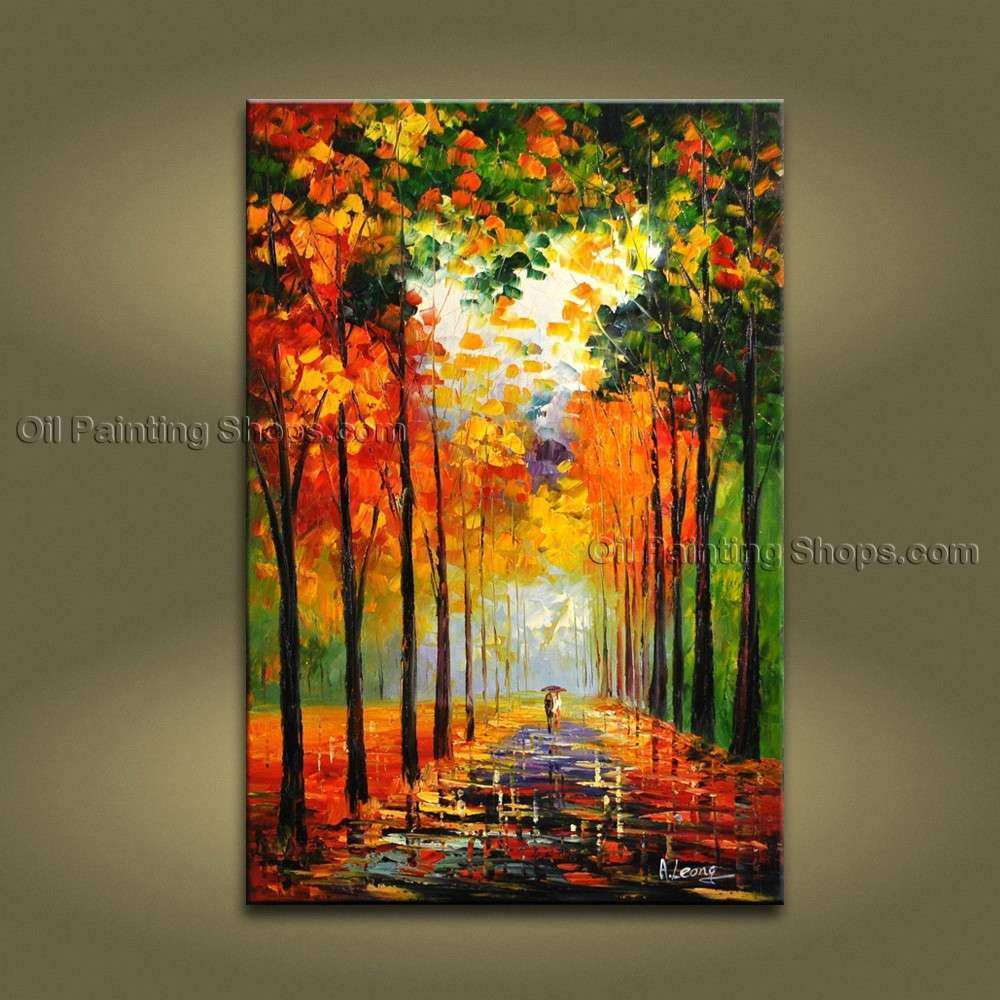 Amazing Contemporary Wall Art Landscape Painting Park