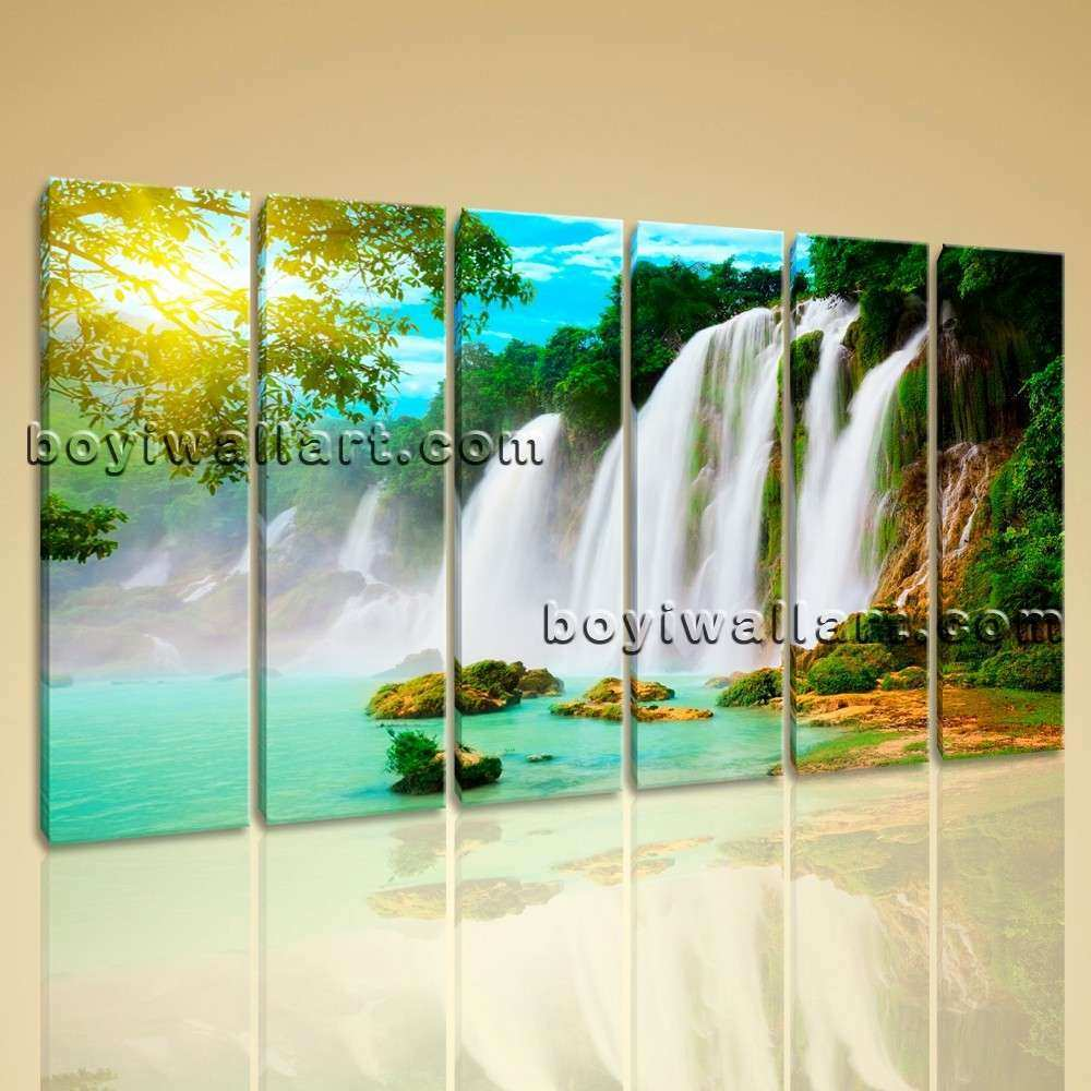Wall Art Print Canvas HD Landscape Waterfall
