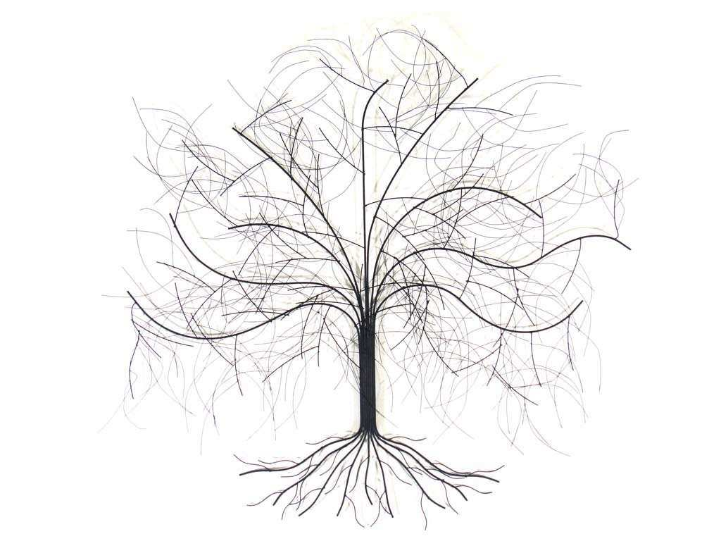 Metal Wall Art Oak Tree