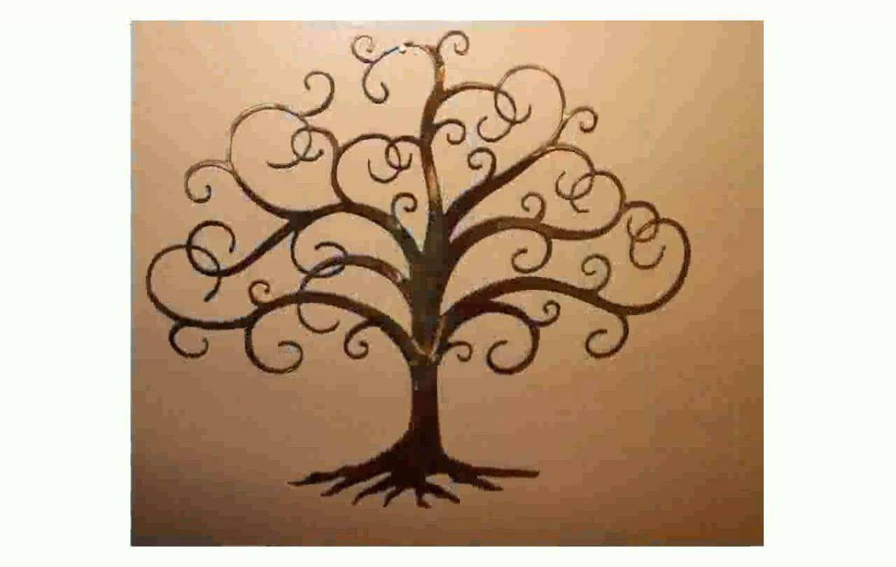 Wall Art Design Ideas Branches Tree Life Metal Wall