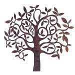 Elegant Large Outdoor Metal Wall Art