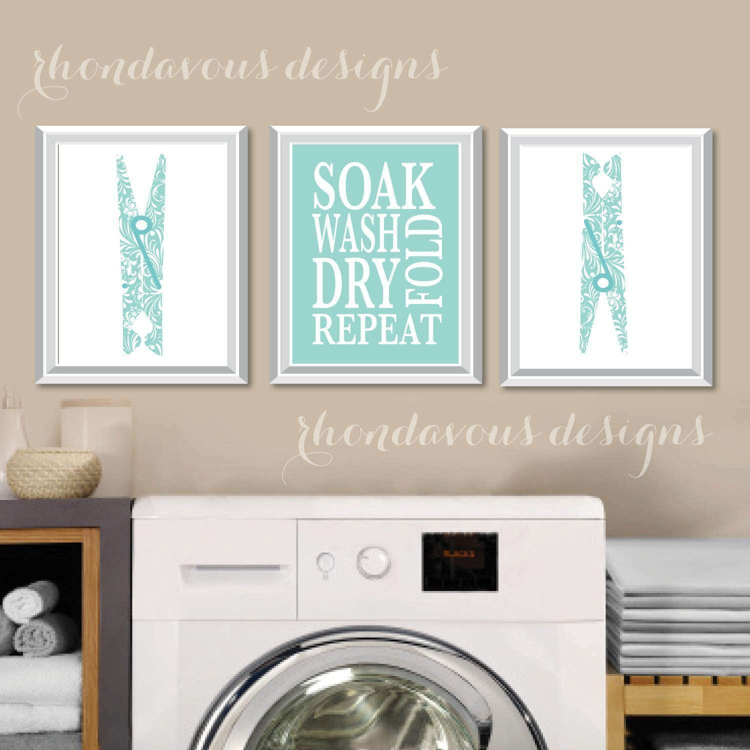 Laundry Wall Decor Luxury Room Art Print Sign
