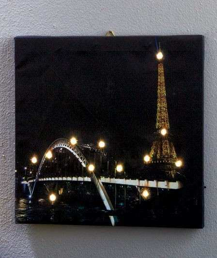 NEW LED Lighted Canvas Modern Wall Art London Paris New