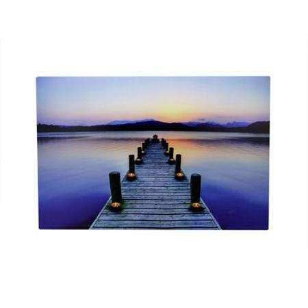 Led Lighted Canvas Wall Art Fresh Buy Led Lighted Sunset Boat Dock Scene Canvas Wall Art 15