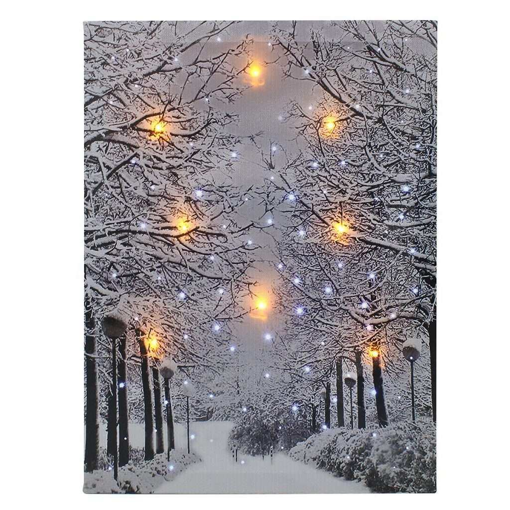 Led Lighted Canvas Wall Art Fresh Luminous Led Snow Tree Lighted Canvas Print Art Painting