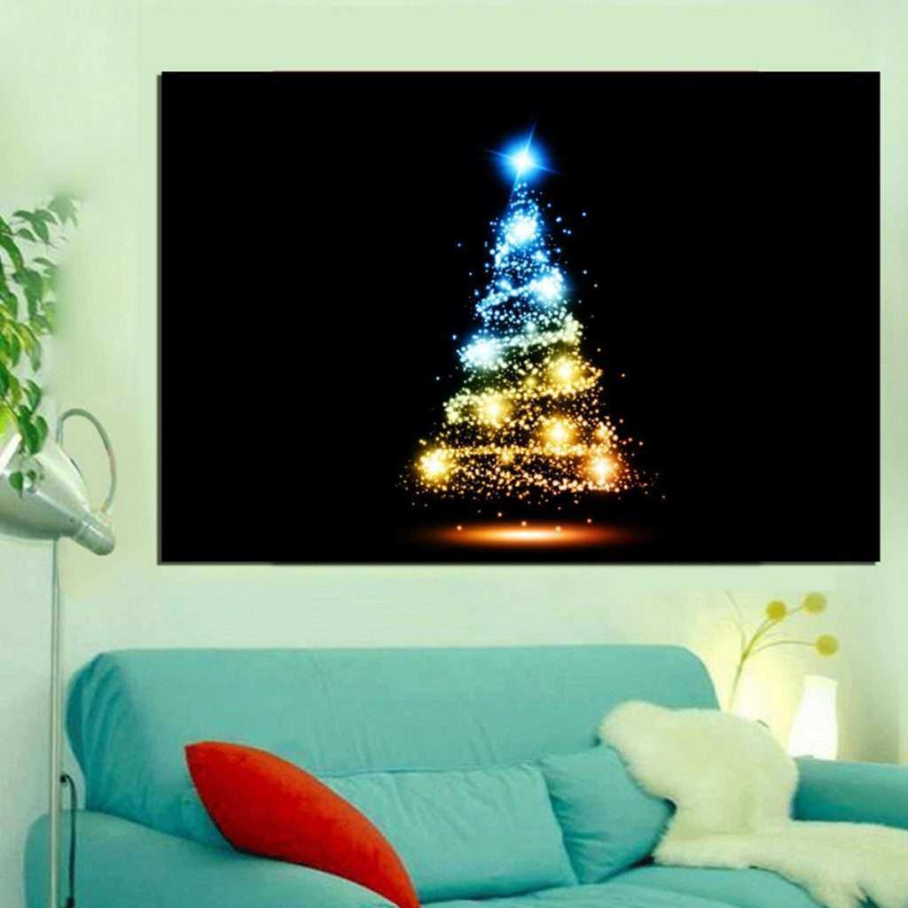 Led Lighted Canvas Wall Art New Led Grow Up Christmas X Mas Canvas Print Painting Home