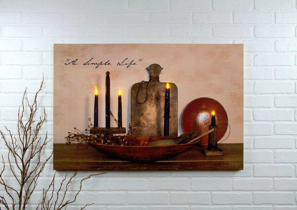 Simple Life wall art Radiance LED Lighted Canvas NEW
