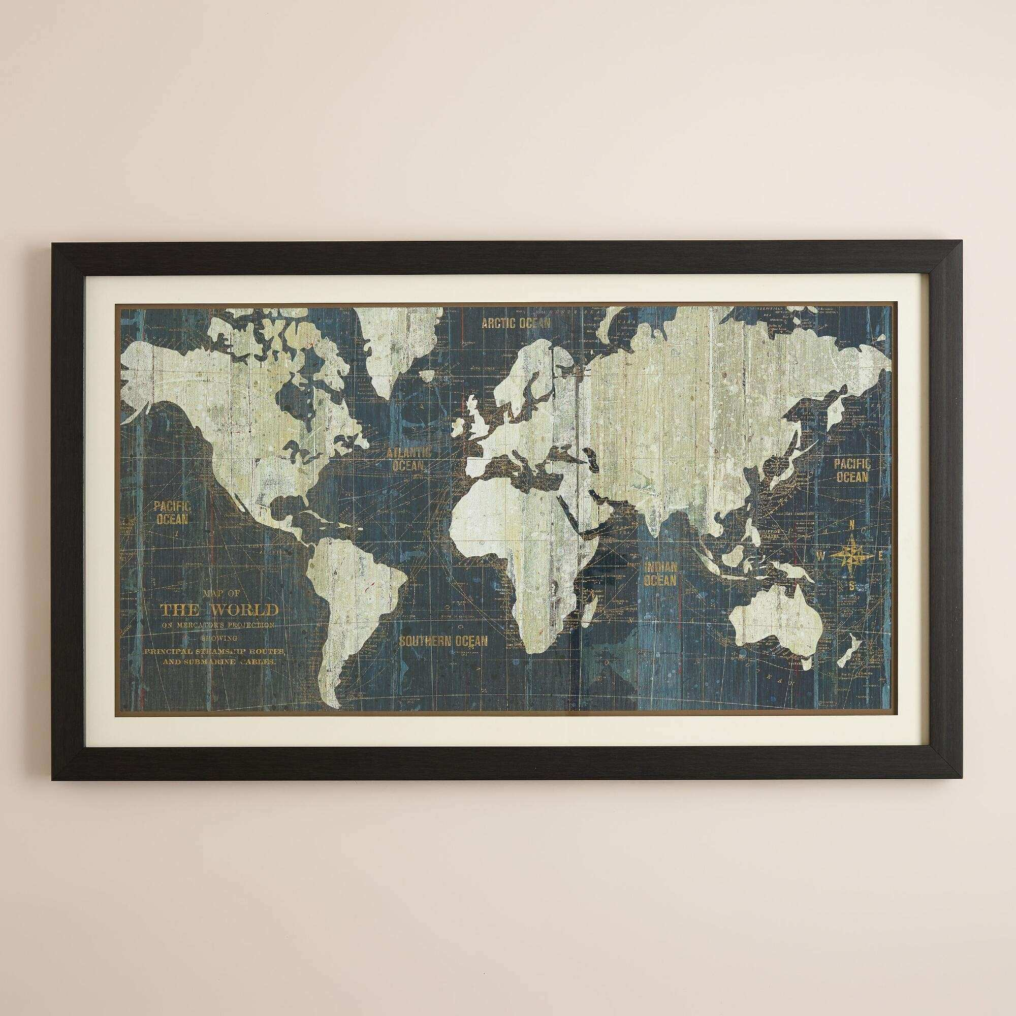 Fresh Old World Map Wall Art 30 With Additional Family