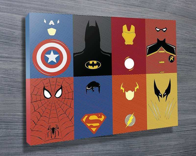 Marvel Characters Wall Art on Canvas Brisbane