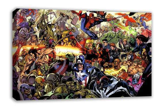Marvel DC ic characters canvas wall art by DynamoWallArt