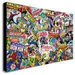 Marvel Canvas Wall Art Luxury Marvel Ics Collage Canvas Wall Art Print Various Sizes Of Marvel Canvas Wall Art