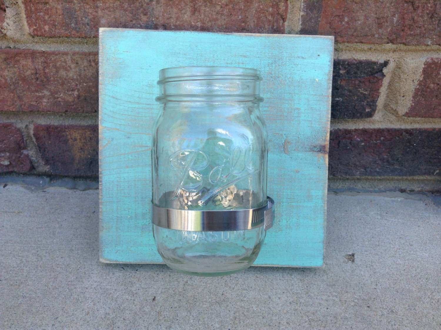 Mason Jar Wall Decor Rustic home decor by TheSouthernDelight