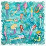 Mermaid Canvas Wall Art Fresh Mermaid Plunge Canvas Wall Art by Oopsy Daisy
