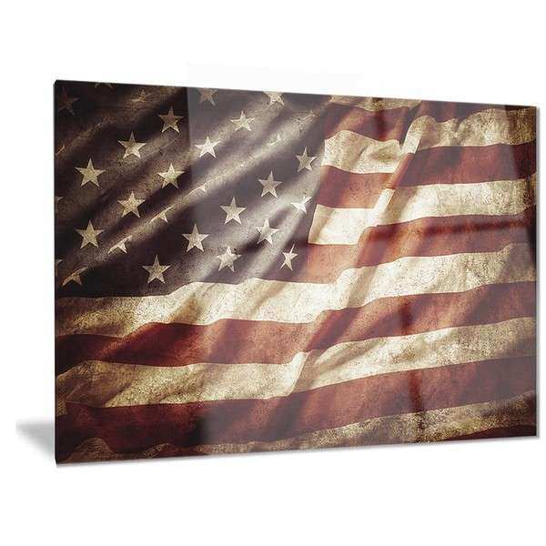 Designart American Flag Contemporary Metal Wall Art Free Shipping Today Overstock