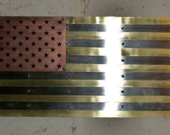 Popular items for metal american flag on Etsy