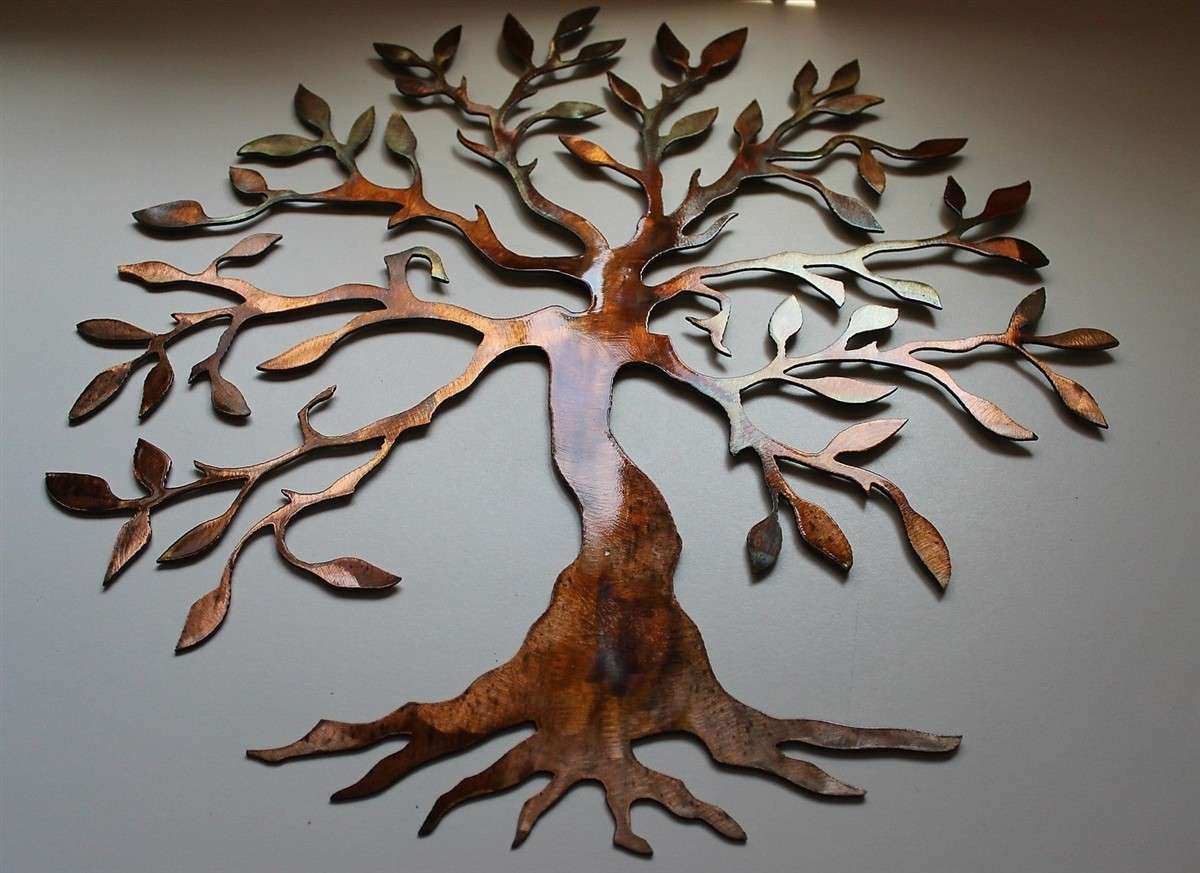 Wall Art Ideas Design Painting Decorating Metal Oak Tree