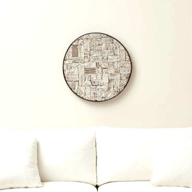Charming Wood Medallion Wall Decor Decorated Christmas