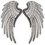 Metal Angel Wings Wall Decor Unique Angel Wings Handcrafted Rhinestones Metal Wall Decor Of Metal Angel Wings Wall Decor
