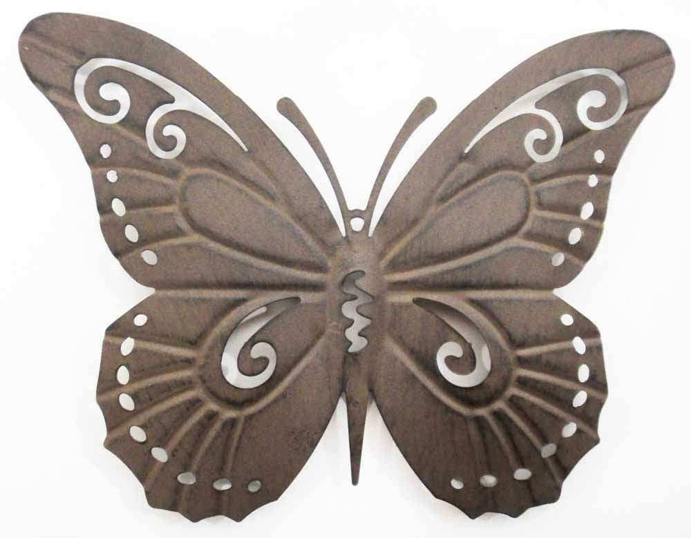Wall Art Metal Wall Art Picture Rustic Butterfly