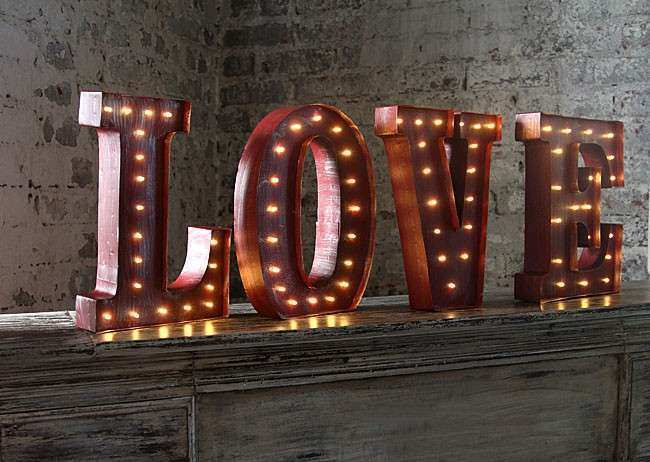 LED Wall Art Battery Operated 12 Inch Lighted Metal