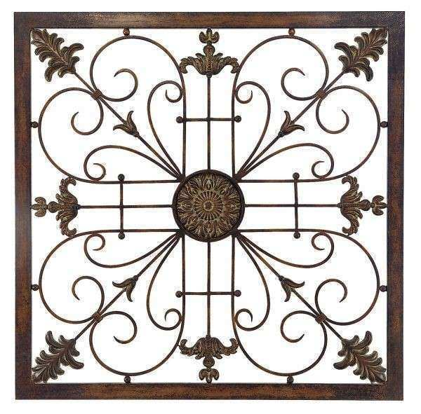 Attractive Metal Scroll Wall Art Awesome Tuscan Designed Square Metal Wall Art Scroll