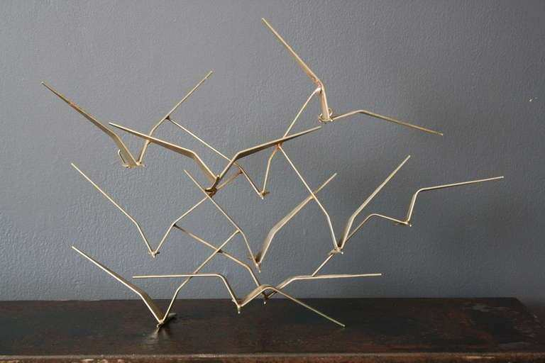 "Small ""Birds in Flight"" Metal Wall Sculpture by C Jere at"