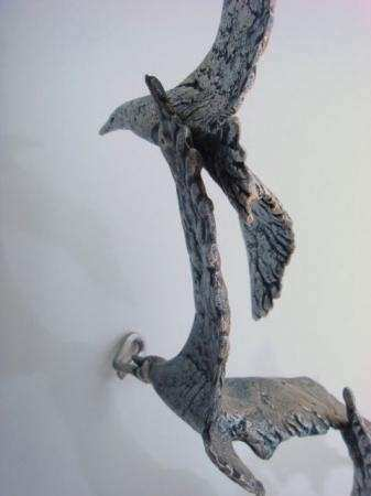 Original Curtis Jere Signed Metal Wall Sculpture Flock