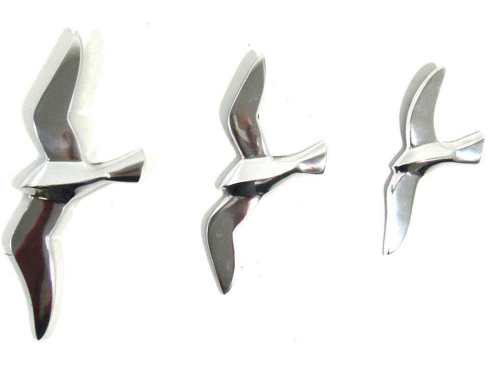 Metal Flying Birds Wall Art Takuice