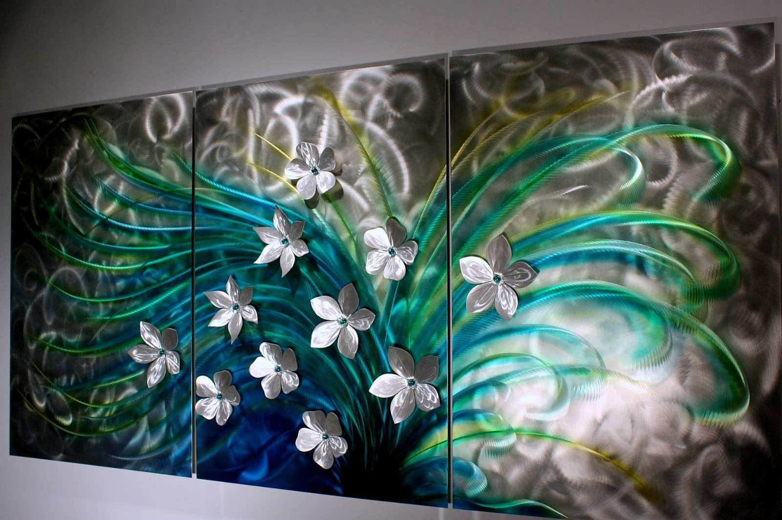Metal Wall Art Decor And Sculptures Elegant Floral Art Metal Wall Sculpture  Abstract Home Decor