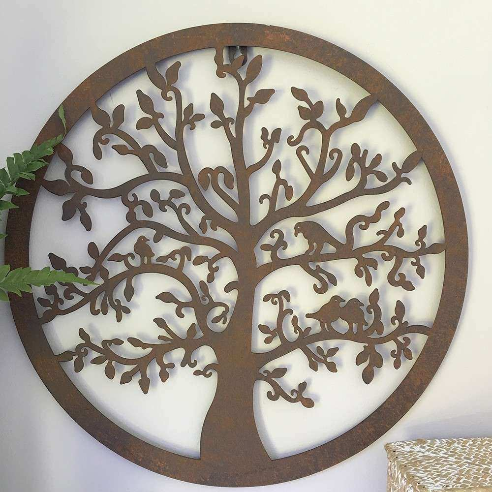 Metal Wall Decor Fresh Decorative Tree Round Metal Wall Panel Garden Art Wall