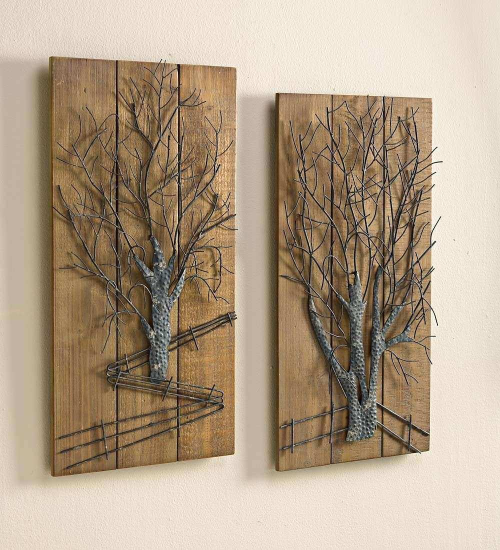Metal Wall Decor Inspirational Wall Art Designs Wood and Metal Wall Art 2 Pieces
